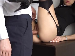 Ass Fucking Internal Interjection For Lovely Super-Bitch Assistant, Chief Smashed Her Cock-Squeezing Cooter And Culo!