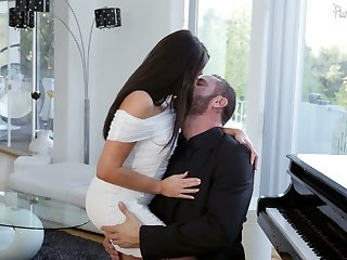 Captivating brunette Christiana Cinn is making love with Danny Mountain