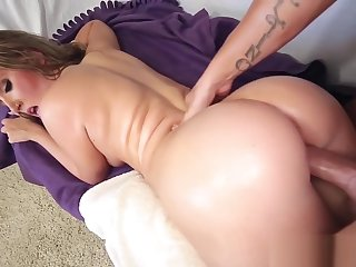 Teen with big butt facial