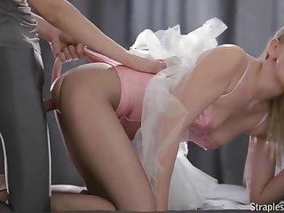 Young Ballerina Angellina Enjoys Strapon Sex