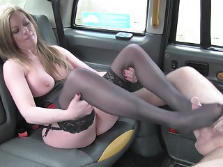 Married Holly Kiss fucked in the back of the infamous Fake Taxi
