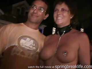 Halloween Party Girls show big boobs