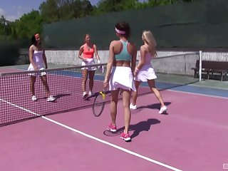Tennis is always fun when Cayla Lyons and her girlfriends are playing