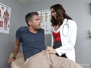 Doctor Holly Michaels in uniform loves to have deep anal sex