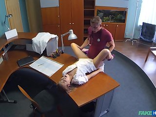Nurse Alexis gets a hot surprise during her shift at the clinic