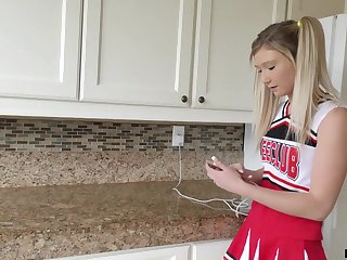 A slutty cheerleader has sex with her stepfather and that girl gives good head