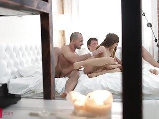 Slim4K - Slim girl in stockings enjoys anal