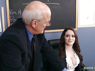 Filthy tutor Tessa Lane drops on her knees to give a deepthroat
