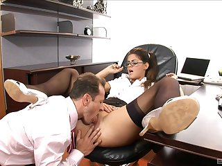 Secretary pleases horny boss with premium anal sex
