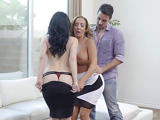 Handsome wife Noelle Easton shares her man with Richelle Ryan