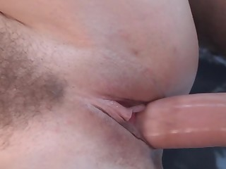 Hairy young cunt filled by his long hard bushwa