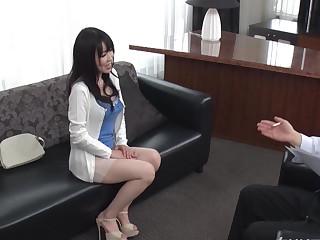 Asian wife masturbates shamelessly