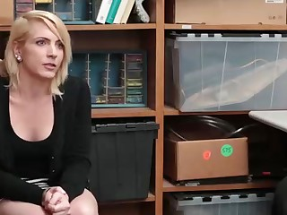 Sloppy minded blondie honey went to a job interview and concluded there banged, like never before