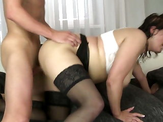 Busty mature mother suck and fuck her son's best friend cock