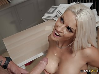 Blanche Bradburry craving for a dick between her tits and legs