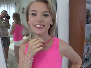 Nice Ukrainian babe Lily Ray gives a rimjob and footjob to her sex partner