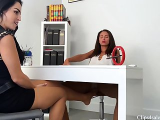 Lesbian Nylon Foot Fetish Lexis punished