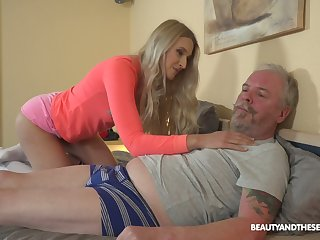 Ardent Hungarian chick Diane Chrystall is so into sucking old cock in 69