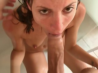 Two Cumshot with Public Flashes and Shower Sex -Amateur Couple MySweetApple