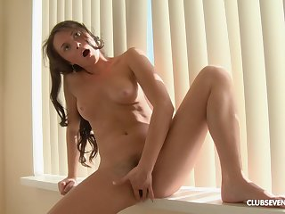 Petite feels pussy getting from warm to soaking wet