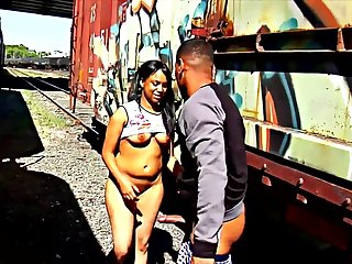Exciting Ghetto Ebony Hoe Fornicate And Sucks