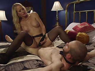 Hot mature treats her male slave with great lust