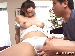 Her big natural titties bounce with a dick pounding her pussy