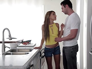 Young housewife Hime Marie is fucked hard right on the kitchen table