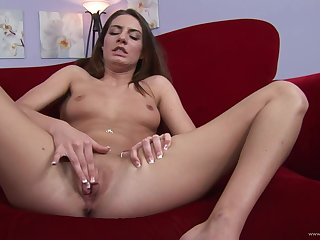 Temptress with tattoos takes on two hard dicks in a threesome