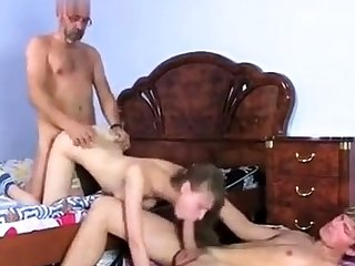 College Girls Banged Doggystyle In A Threesome