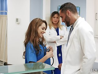 Slutty nurse Blair Williams loves to be fucked while she works