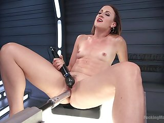 Rough fucking machine solo tryout for slutty Dylan Ryan