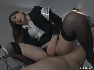 Police officer Aina Maria with amazing body fucked on the table
