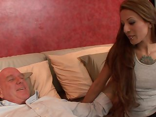 stepdad excited by his spoiled stepdaughter