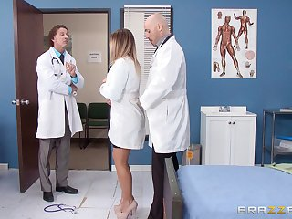 Blonde nurse fucked from behind by a horny doctor - Payton West