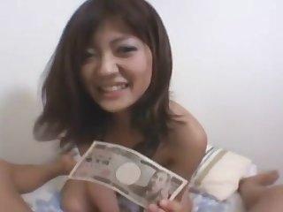 A Cute Asian Model fucks for cash